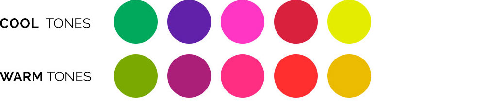 Cool vs. warm colors